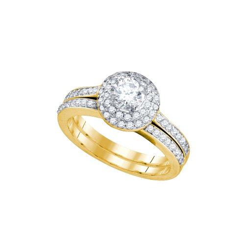1.00CT DIAMOND 0.40CT ROUND CENTER BRIDAL SET (Round 0.4 Ct Center)