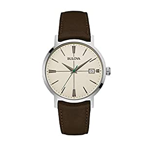 Bulova Reloj Analogico para Hombre de Cuarzo con Correa en Piel 96B242 1
