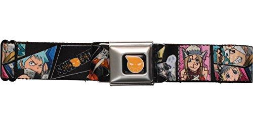 Buckle-Down Seatbelt Belt - SOUL EATER 8-Character Blocks - 1.5