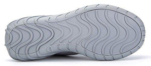 Corsa Sportive Casual e Leggero Scarpe Unisex da Scarpe Soulsfeng Sneakers da Traspirante Grigio Donna Moda Atletica Uomo RvxtwZ