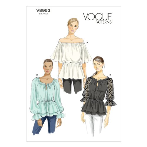Vogue Patterns V8953 Misses' Top Sewing Template, Size E5