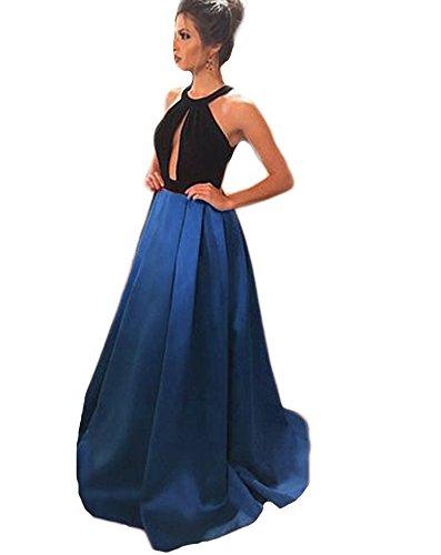 Drehouse Robes De Bal Longues Backless Hater Femmes Tutu Douces Robes De Bal 16 Partie 2018 Bleu