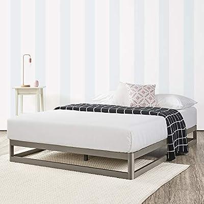 """Mellow Twin 9"""" Metal Platform Bed Frame w/Heavy Duty Steel Slat Mattress Foundation"""