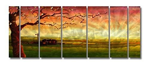 Beautiful Tree Metal Wall Art - Set of 7