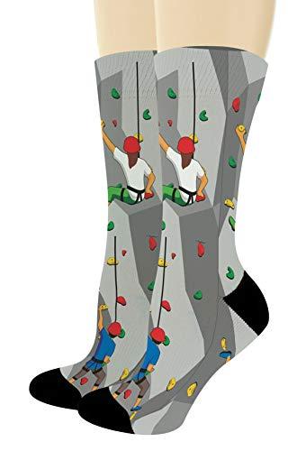 Rock Climbing Accessories Rock Climbing Socks Hiking Sock Hike Gifts 1-Pair Novelty Crew Socks ()