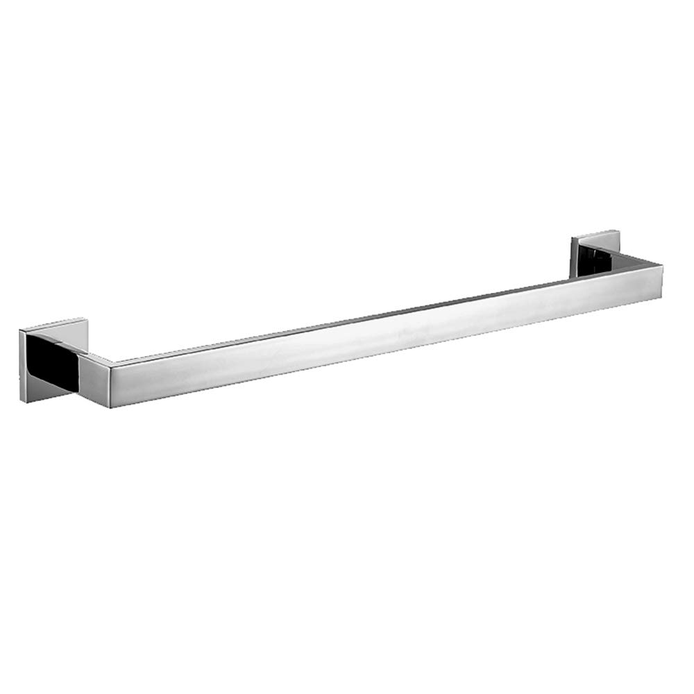 Homovater Modern Towel Bar Square Base Single Towel Rail Holder Bathroom Accessory 304 Stainless Steel Polished Chrome Wall Mounted,30cm