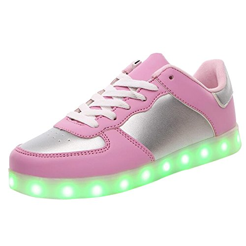 Trainers Couples Skateboard up Sneakers Unisex Leisure Shoes LED USB IshowStore Charging Luminous Sports Light wAIF4nq