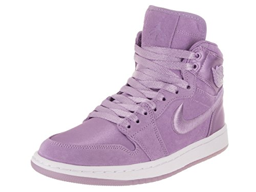 Jordan Nike Women's Air 1 Retro High SOH Orchid Mist/White Casual Shoe 9 Women US by Jordan