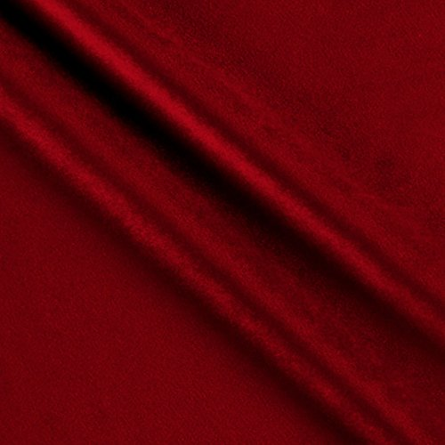 (Ben Textiles Royal Velvet Red Fabric by The Yard, )