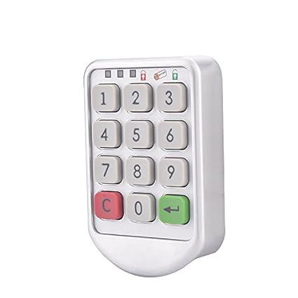 Cerraduras con código, ectech Metal número del teclado de contraseña electrónica digital cerraduras con código
