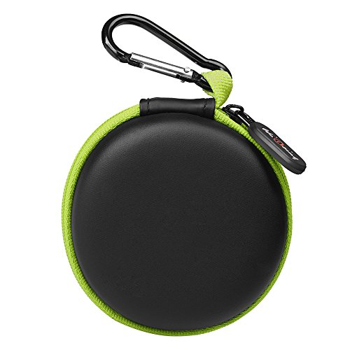 : Portable Earpieces Earbuds Protection EVA Sweatproof Travel Carrying Cases with Climbing Buckle_Green