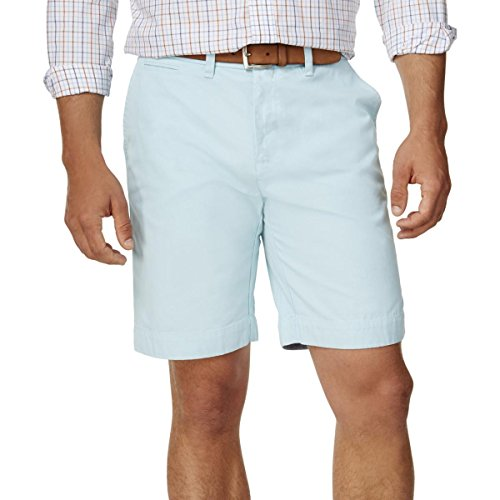 Tommy Hilfiger Mens Classic Fit Lightweight Casual Shorts Blue 35 by Tommy Hilfiger