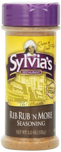 Sylvia's Rib Rub 'N More Seasoning, 5.5-Ounce Containers (Pack of 12) by Sylvia's
