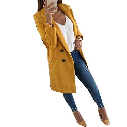 Cropped Outerwear Tech Jacket - Autumn Winter Suit Blazer Women 2019 Slim Jacket Work Office Suit Long Sleeve Outerwear Coat Yellow