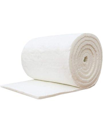 TODAYTOP Fireproof Cotton Blanket Ceramic Fibre Blanket Aluminum Silicate High Temperature Insulation Fiber Fireproof Wood Stoves