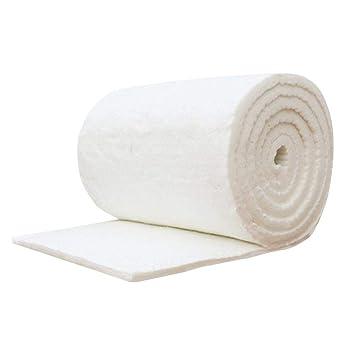 Biback - Manta ignífuga de algodón y Fibra de cerámica para Estufas de Madera y Chimenea, Blanco, 10 mm: Amazon.es: Hogar