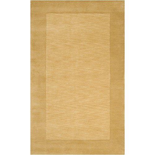 Surya Mystique M-345 Transitional Hand Loomed 100% Wool Dark Goldenrod 5' x 8' Area Rug