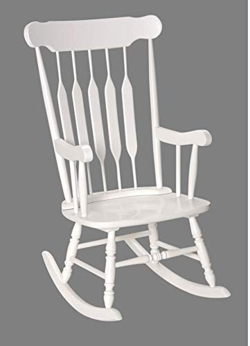 Brilliant Adult Solid Wood Rocking Chair White Inzonedesignstudio Interior Chair Design Inzonedesignstudiocom