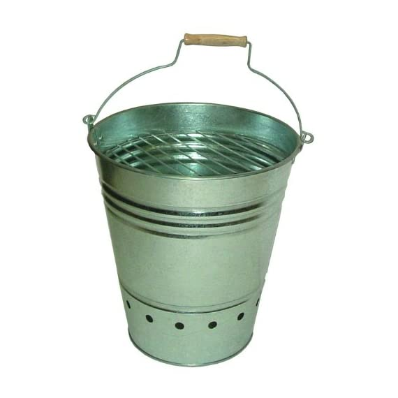 Esschert Design Fire Bucket - Perfect for placement outdoors near a garden, patio, or in the yard Bucket 13.65 inch 11.895 inch 13.182In Made in China - patio, outdoor-decor, fire-pits-outdoor-fireplaces - 41EQvjWELpL. SS570  -