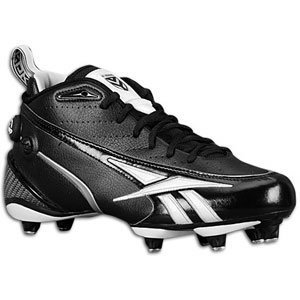 Reebok NFL All Out One D Men's Cleats (15, Black/White)
