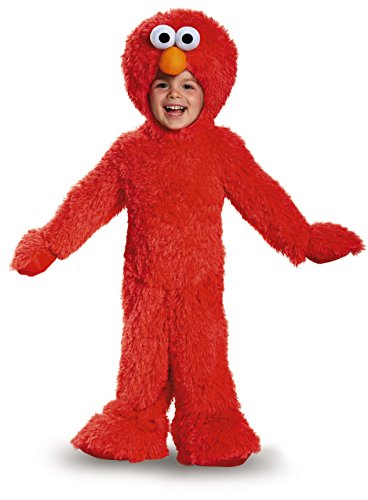 Elmo Extra Deluxe Plush Costume, Small (2T) - 2t Elmo Costumes