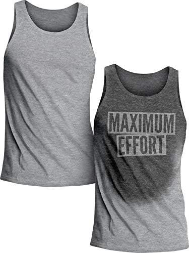 Actizio Sweat Activated Funny Workout Camiseta sin mangas para hombre máximo esfuerzo