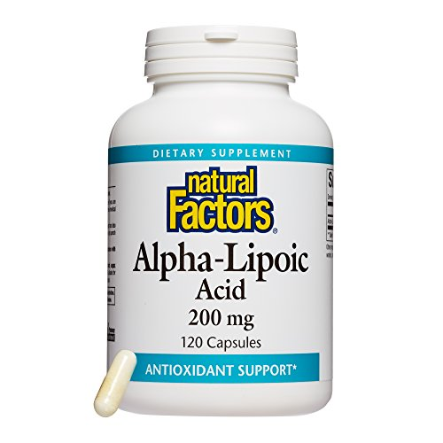 Natural Factors, Alpha-Lipoic Acid 200 mg, Antioxidant Support to Help Maintain Glucose Levels Already in a Normal Range, 120 Capsules (120 Servings)