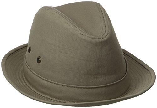 Stetson Men's Fedora Linen Hat, Khaki, ()