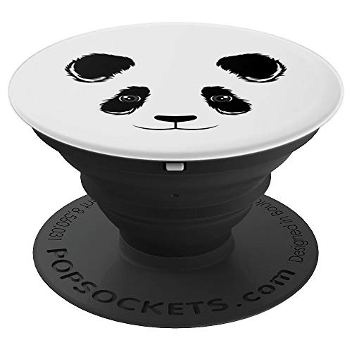 Cool Funny Panda Face Art Halloween Dress-Up Costume Gift - PopSockets Grip and Stand for Phones and Tablets