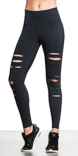 ings Slim Hollow Out Cutout Design Hot Trendy Yoga Pants For Gym Sports Exercise ()