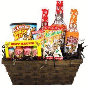 Ass Basket, Ass Kickin' Hot Sauce Gift Basket (Hot Gift Basket)