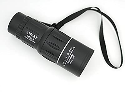 AWOWZ Outdoor 16x52 Dual Focus Day and Night Vision Monocular Telescope Optics Zoom Scalable Telescopic 66m/ 8000m