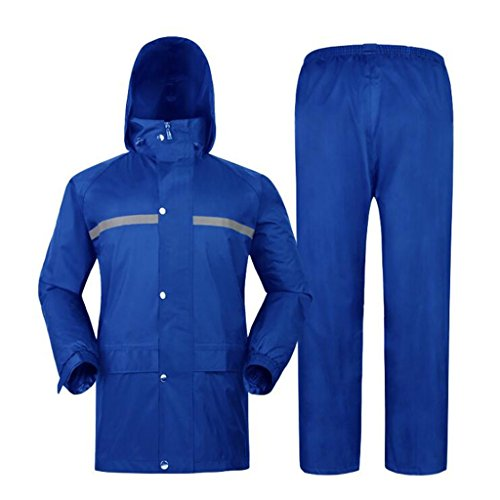 Adulti Tuta Incappucciato Da Piumino Impermeabile Abbigliamento Degli Uomo All'aperto Pioggia Lavoro E Riutilizzabile Antipioggia Per Antivento set Giacca Pantaloni qBnCSZxn