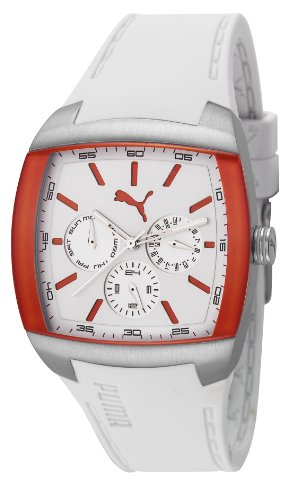 Puma Motorsport GT Unisex Quartz Watch with White Dial Analogue Display and White Plastic or PU Strap PU102722001