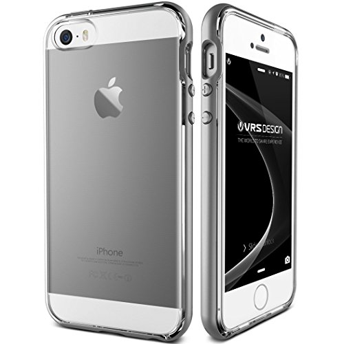 iPhone SE Case, VRS Design [Crystal Bumper][Satin Silver] - [Clear Cover][Military Grade Protection] For Apple iPhone SE