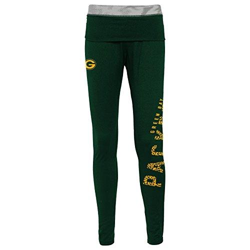 NFL Junior Girls Elastic Heart Legging, Green Bay Packers, Hunter, - Packers Green Bay Heart