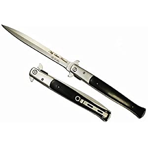 "13"" Black Handle Michael Corleone Milano Godfather Style Pocket Sword Knife IT'S HUGE! (Black)"