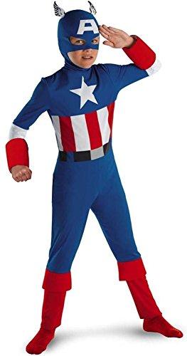 Captain America Classic - Size: Child M(7-8) (I M A Super Hero Costume)