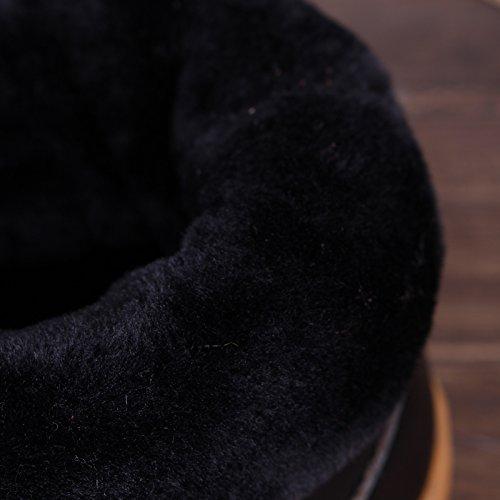 Soggiorno caldo inverno scarpe impermeabili tendine di manzo fondo cuoio pantofole di cotone confezione con cotone scarpe anti-slittamento 25 (35-36), due-retro di colore viola chiaro