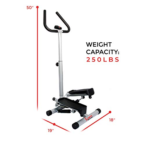 Sunny Health & Fitness Twist Stepper Step Machine w/Handle Bar and LCD Monitor - NO. 059 by Sunny Health & Fitness (Image #18)
