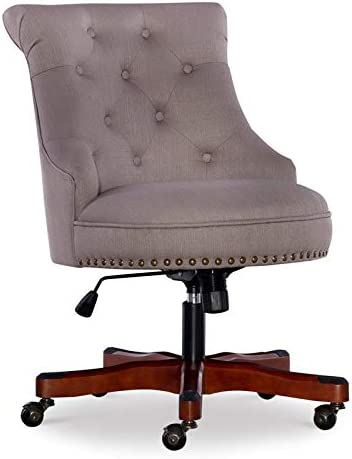 Linon Sinclair Wood Upholstered Office Chair