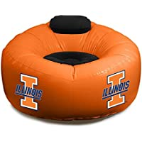 NCAA College Football Inflatable Cafe Lounge Chair with Headrest, Illinois Fighting Illini