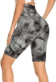 "Gayhay 8"" Biker Shorts for Women - Tummy Control High Waisted Yoga Workout Running S"