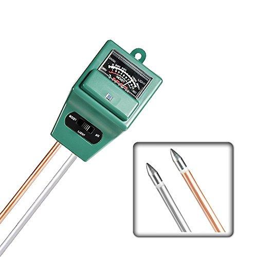 CFStore@ Indoor/Outdoor Moisture Sensor Meter Hydrometer, 3-in-1 Soil Water Monitor with Light & pH Test Gauge, No Battery Needed (PH-Meter) by CFStore