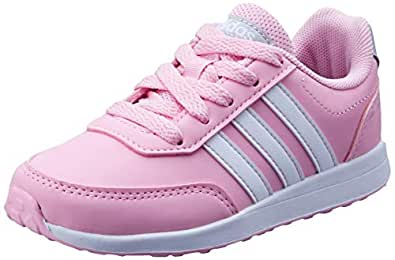 adidas, VS Switch 2 Trainers, Girls, True Pink/White/Grey, 1.5 US
