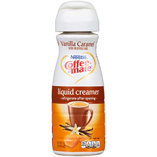Coffee Mate Vanilla Caramel Liquid Coffee Creamer, 6 Count Coffee Mate Caramel Coffee Creamer