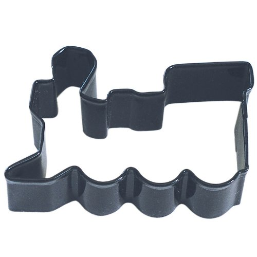 Train Black Poly Resin Coated Tin Cookie Cutter 3
