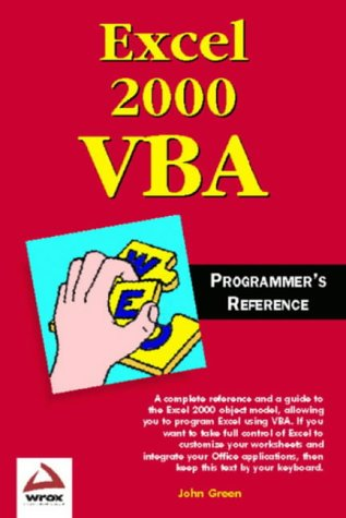 Excel 2000 VBA Programmers Reference product image