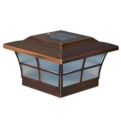 Classy Caps SL086 6x6 Prestige Solar Post Cap, Copper, Pack of 2