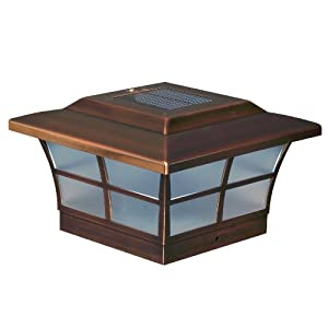 Classy Caps SL086 6x6 Prestige Solar Post Cap, Copper, Pack of 2